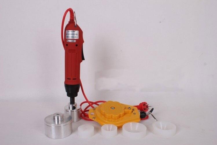 ФОТО 20 SETS Electric capping tools equipment handheld pharmaceutical bottle capper foils jar locking machine