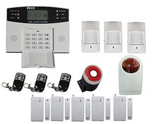 Free DHL Wireless Home GSM SMS Telephone Security GSM Alarm System LCD Screen with English/Russian Manual and voice