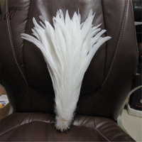 Wholesale High Quality Pure White Rooster Coque Tail Feathers For Crafts wedding Decoration Costume Decoration Pheasant plumes