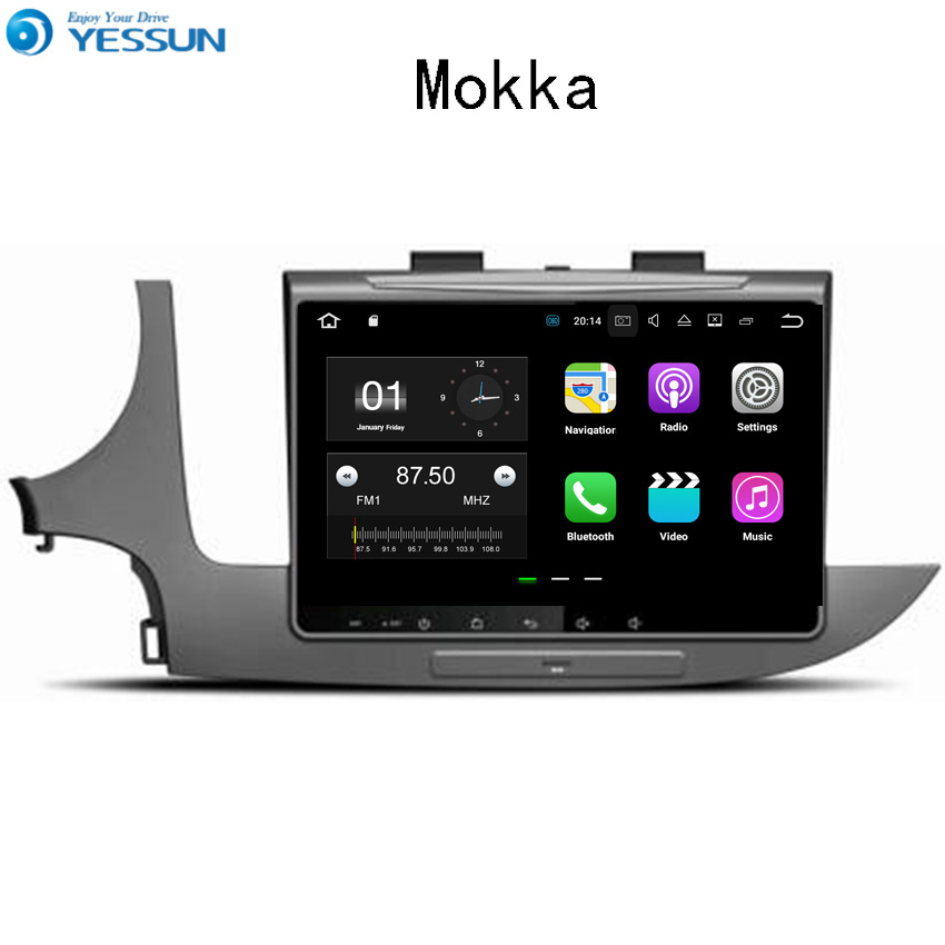 YESSUN Car Navigation GPS For Opel Mokka 2016~2017 Android Audio Video HD Touch Screen Stereo Multimedia Player No CD DVD yessun android car navigation gps for hyundai santa fe 2006 2012 audio video hd touch screen stereo multimedia player no cd dvd