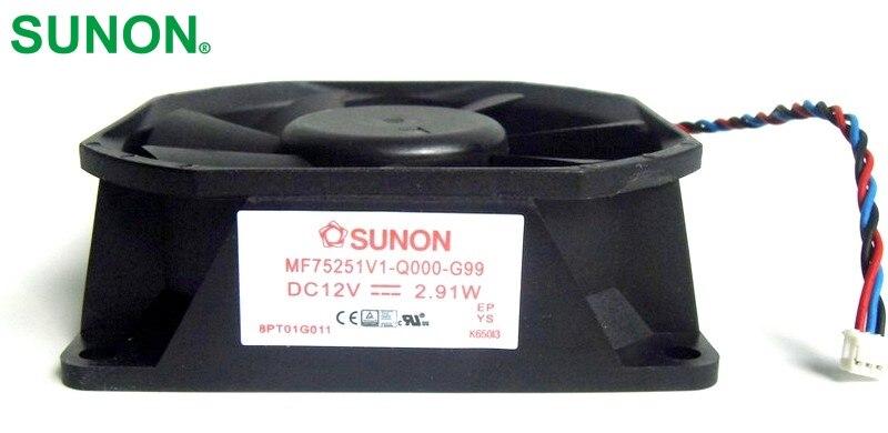 SUNON PT-LW321EA  MF75251V1-Q000-G99  Projector fan 7525 12V 2.91W original projector lamp et lab80 for pt lb75 pt lb75nt pt lb80 pt lw80nt pt lb75ntu pt lb75u pt lb80u