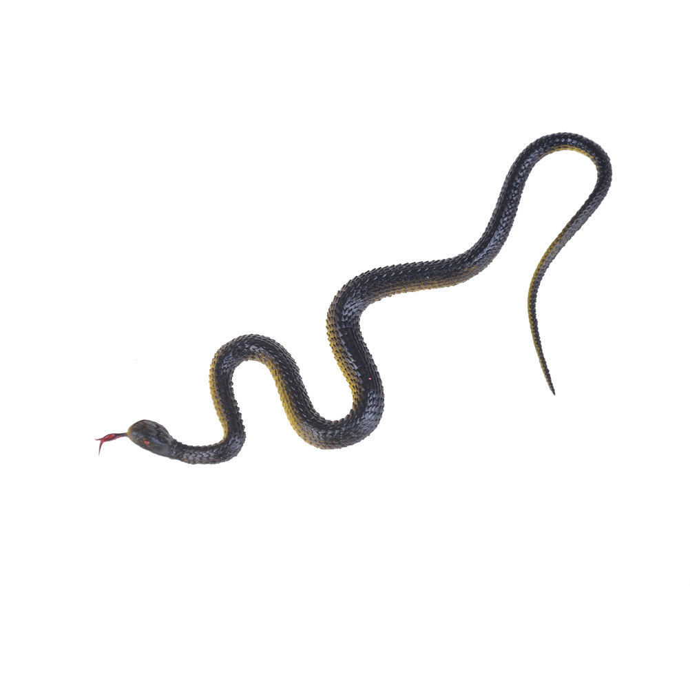 Simulation Rubber Snake Fake Artificial Rubber Imitation Snake Model Toy Snake Fake Animal Gift Halloween Party Supplies