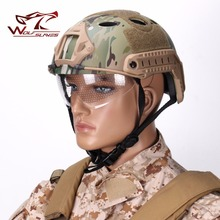 FAST helmet motorcycle helmet Goggles PJ tactical military system riding Universal Portable Military Unisex Helmet