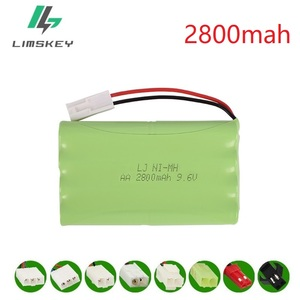 9.6V 2800mAh NI-MH battery for RC Remote Controul Toys Car toy Boat toys Gun Tank 8*AA 9.6v battery group free shipping(China)