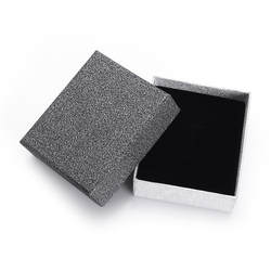 Wuli & baby Роскошная Подарочная коробка Толстая Текстура пудра с блестками поверхности шкатулка без логотипа