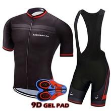 High Quality Short Sleeve Cycling Kits Bicycle Jersey Set Bib Shorts Pro Team Racing Bike Wear Bicycle Clothing Set 9D Gel Pad цена и фото
