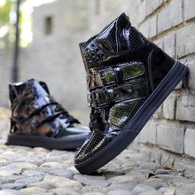 Unisex Leather High Top Sneakers