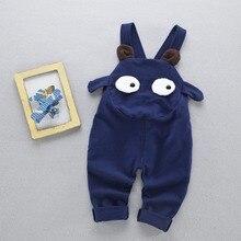 Casual Automne Printemps Nourrissons Bébé Enfants Coton de Dessin Animé Garçons Filles Roupas Bebe Pleine Longueur Pantalon Pantalon Salopette Pantalones S5137