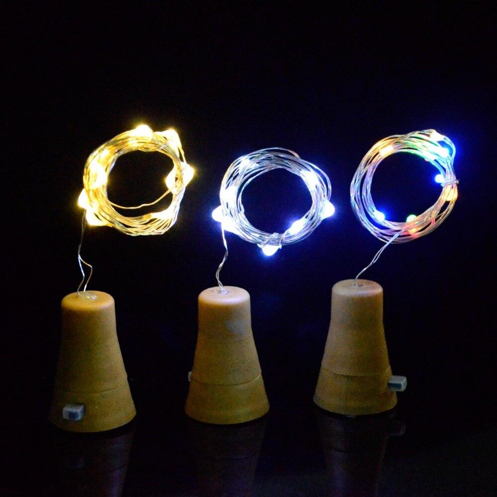 10pcs Cork Shape Bottle Copper Lights 1m 10leds Solar