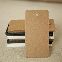 100Pcs DIY Kraft Paper Tags Pointed Head Label Luggage Note Blank Price Hang Tag Kraft Gift