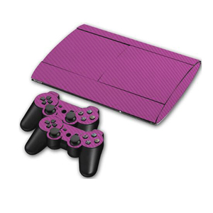 Image 4 - Carbon Fibre Vinyl Skin Sticker For Sony PS3 Super Slim 4000 Console and 2 Gamepad Controller Skins Cover Controle Skin