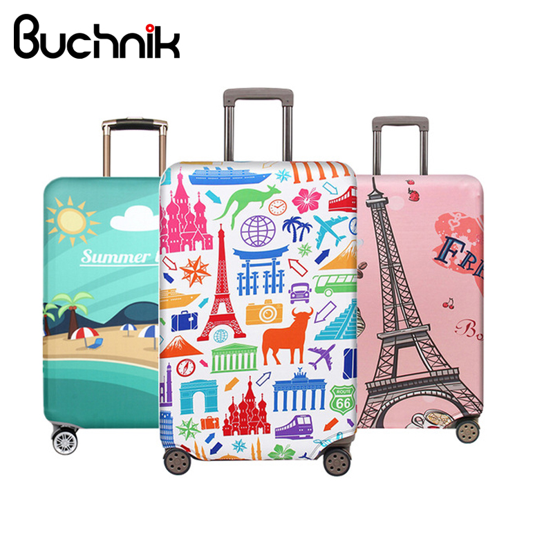Women Men's Luggage Protective Cover Stretch Fabric Suitcase Protector Baggage Dust Pouch Packing Organizer Travel Accessories