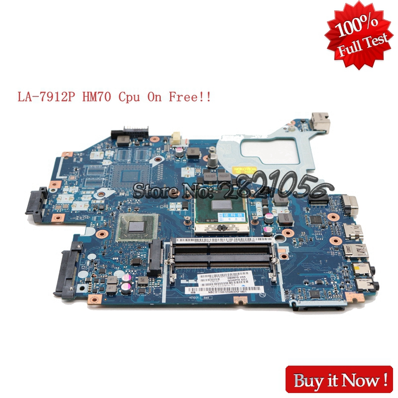 NOKOTION Q5WV1 LA-7912P Laptop motherboard For Acer V3-571 E1-571G Main Board NBC1F11001 NB.C1F11.001 HM70 SJTNV DDR3 Free CPU la 7912p fit for acer gateway v3 571 v3 571g e1 571g nv56r notebook motherboard nbc1f11001 hm70 sjtnv pga989 ddr3 fully tested