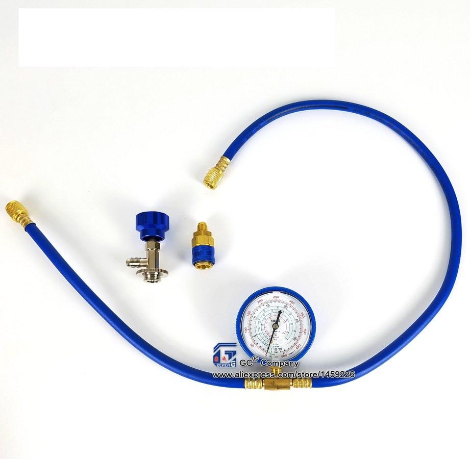R-1234yf Klimaanlage Kältemittel Aufladung Messschlauch Aufladung Set Mit Manome