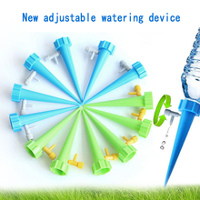 1Pcs Plant Water Seepage Organ Automatic Drop Dawdler Valve Adjust Flower Self Watering Spikes Stakes Irrigation System cheap Water Cans Drip irrigation Plastic Drip irrigation series Regulating valve can control water volume
