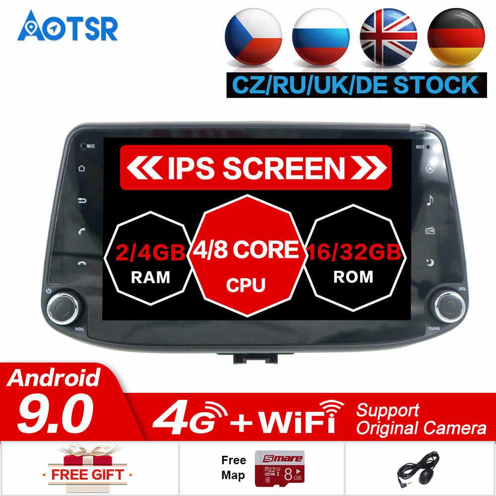Octa Core RAM 4G ROM de 64G Android 9,0 para Hyundai i30 2017 2018 reproductor de DVD del coche de navegación GPS radio SD mapa estéreo unidad de cabeza de vídeo