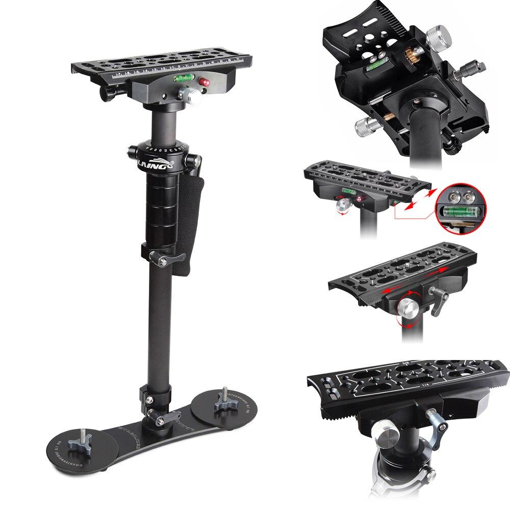 bilder für Neue LAING P-4S Handheld Aluminium Kohlefaser Gimbal Stabilizer für DSLR Kompaktkameras