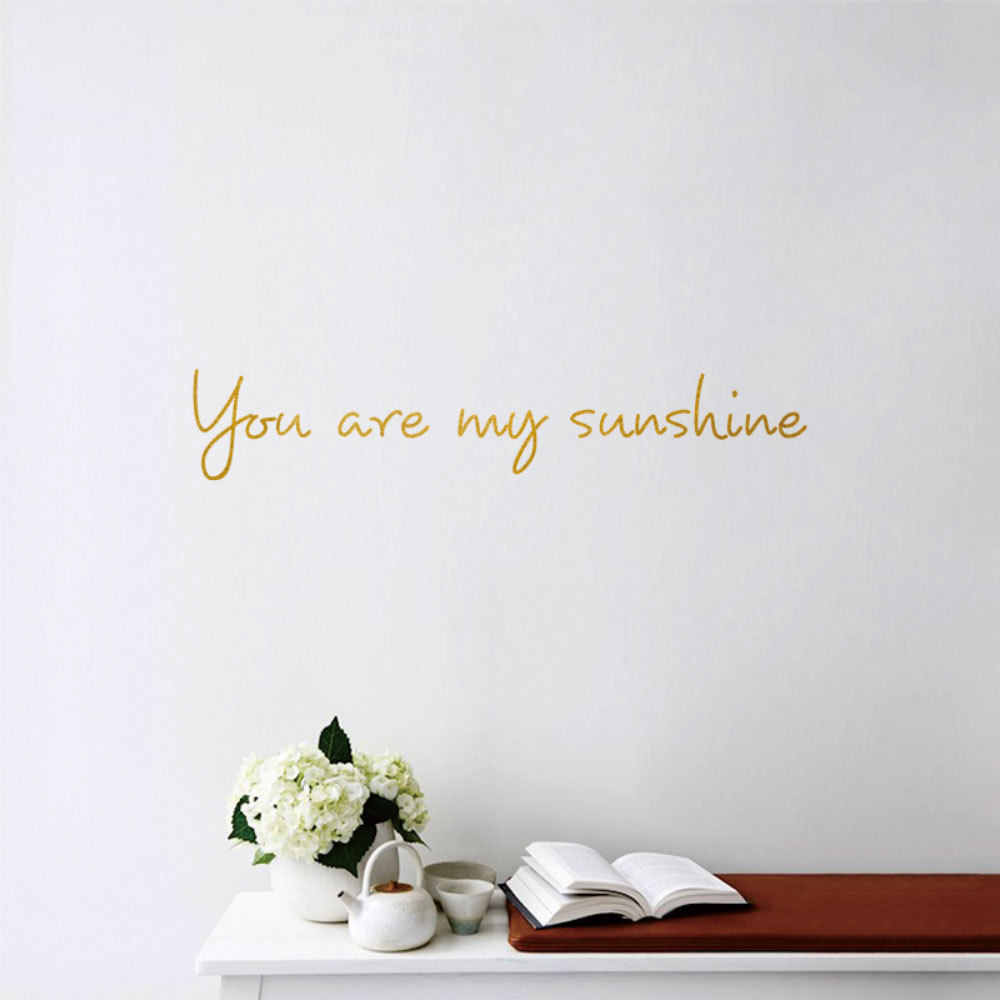 You Are My Sunshine Wall Sticker For Living Room Home Decoration