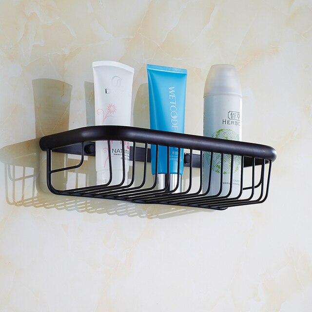 30cm Square antique black bathroom shelves wall mounted, Retro ...