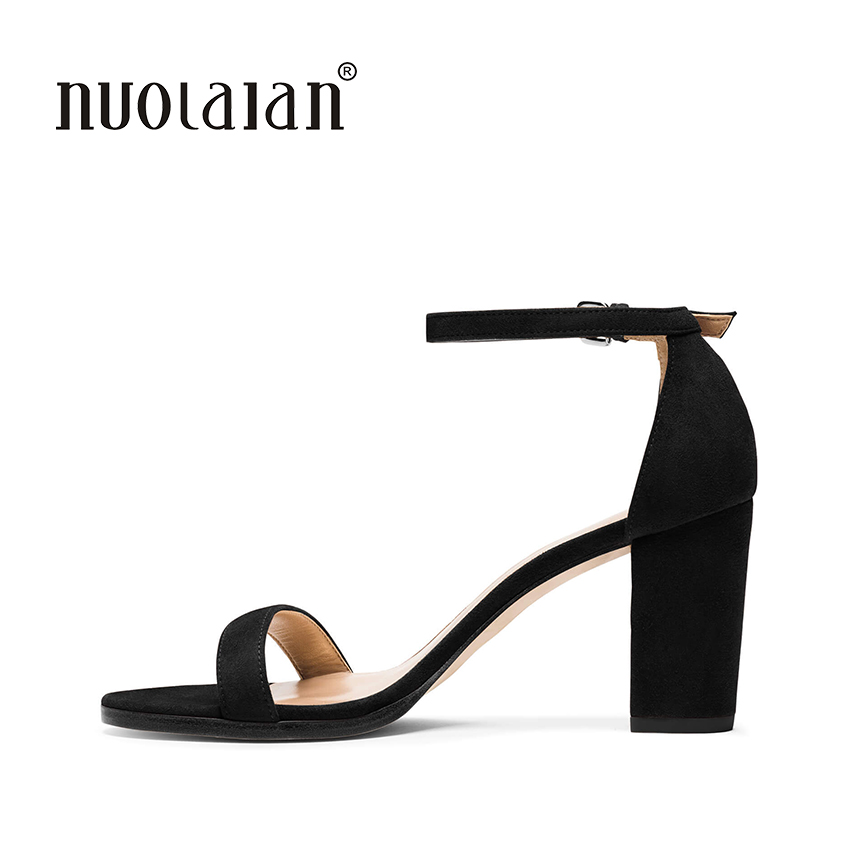 2018 New Arrival Women Shoes Open Toe Women Sandals Ankle Strap High Heels Sandals Summer Shoes Woman Sandalias Ladies Shoes 2017 new arrival abnormal jeweled heels rhinestone crystal embellished high heel sandals ankle strap lock summer party shoes