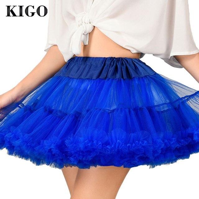 KIGO Sexy Mujeres Tutu Faldas Lolita Minifalda Retro Vintage Rockabilly enaguas de La Enagua Falda de Cintura Alta Faldas Saias K4044