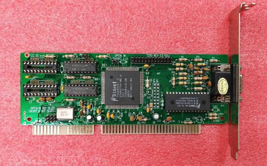 Very Nice ISA Graphics Card For Trident TVGA9000i Video Card 486 586 Mainboard ISA Slot industrial