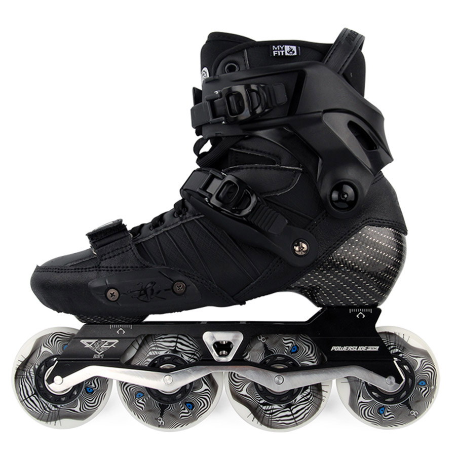 Japy Skate 2017 Powerslide EVO Professional Slalom Inline Skates Adult Roller Skating Shoes Sliding Free Skating Patins Patines