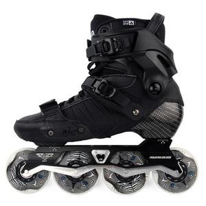 Image 1 - Japy Skate 2017 Powerslide EVO Professional Slalom Inline Skates Adult Roller Skating Shoes Sliding Free Skating Patins Patines