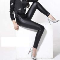 2018 Winter New Fashion Women Genuine leather sheepskin Trousers leather pants pencil pants Female Slim leggings Bootcut
