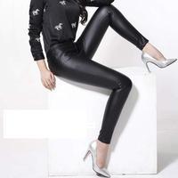 2019 Winter New Fashion Women Genuine leather sheepskin Trousers leather pants pencil pants Female Slim leggings Bootcut