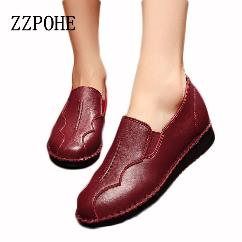 ZZPOHE Autumn mothers fashion shoes soft soles middle-aged woman skate Plus Size shoes casual flat comfortable women's shoes vik max factory outlet white figure skate shoes two size left ice skate shoes cheap figure skate shoes
