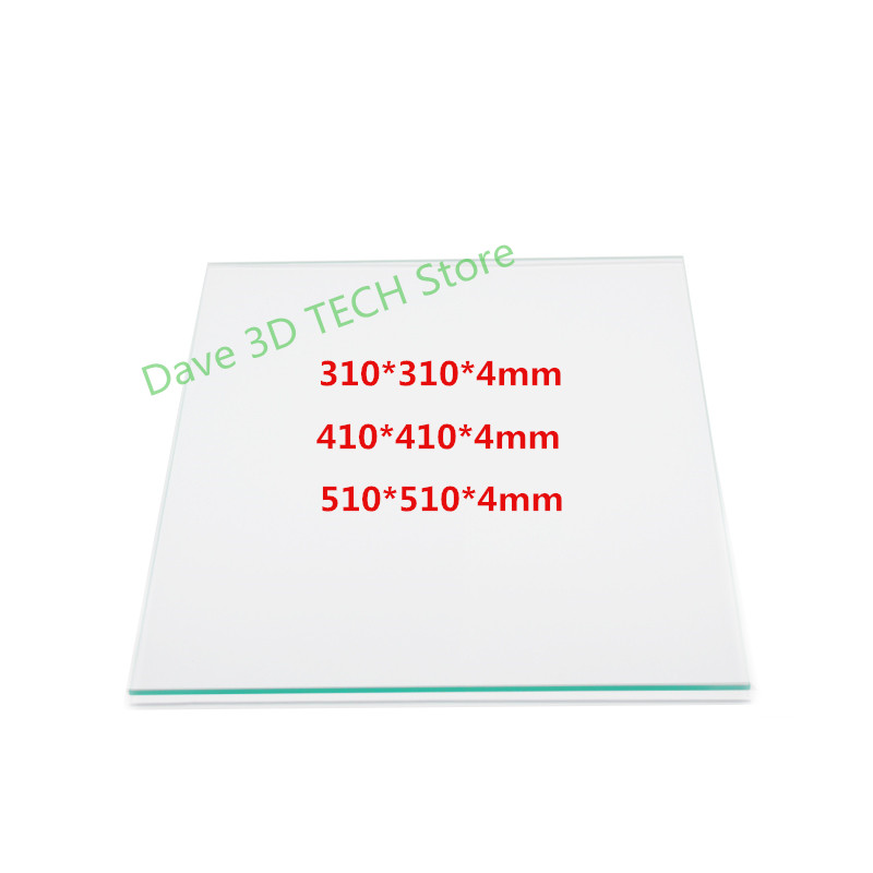 Heated Bed Borosilicate Glass Plate 310/410/510mm 4mm for Creality CR-10 Series CR-10 5S 3D Printer Parts Custom glass cr10 310 310 410 410 510 510 3mm heatbed upgraded mk3 12v heated bed aluminum for cr 10 cr 10s cr 10 s5 3d printer hotbed parts
