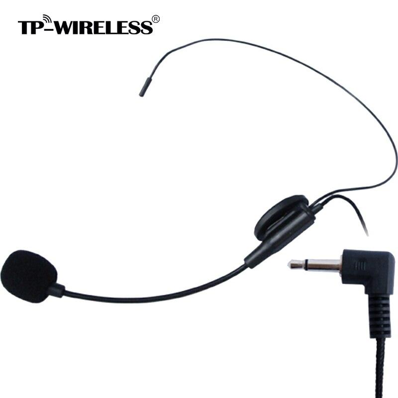 TP-Sans Fil Haut Qualité À Condensateur Cardioïde Microphone Serre-Tête avec Flexible Filaire Boom 1/8 (3.5mm) Prise livraison gratuite