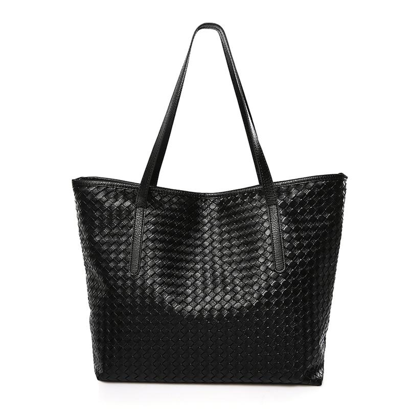 Large Capacity Women Tote Bag Female High Quality Pu Leather Fashion Casual Knitting Pattern Women Handbags Shoulder Bags paul dummett john hughes helen stephenson life upper intermediate b2 dvd rom