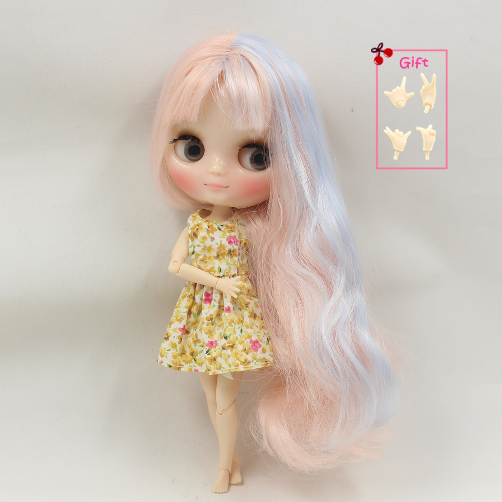 Dolls Toys & Hobbies Fortune Days Nude Factory Middie Blyth Doll Series No.210bl6005/2352 Pale Pink Mix Blue Hair With Bangs Transparent Skin Neo