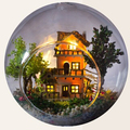 DIY Glass Ball House Miniature Toys,Norway Tree House Assembling Handmade Toy for Children's Birthday Gift  Free Shipping