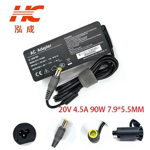 20 V 4.5A 90 W 7,9*5,5 мм зарядное устройство переменного тока для ноутбука Мощность адаптер для lenovo для Thinkpad T500 R400 SL300 SL400 T510 Портативный адаптер