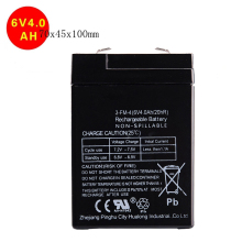 Buying children's toy car accessories 6v 4ah sealed lead acid battery rechargeable storage battery 6v 4ah free shipping