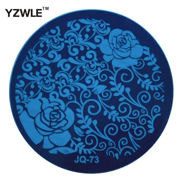 Yzwle 1 листового штампування нігтів зображення пластина, 5.6 см із нержавіючої сталі шаблону гель-лак манікюр трафарет інструменти ( JQ-73 )