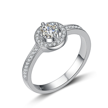 цена на 2015 New arrival Free shipping Super shiny wedding rings 925 sterling silver ladies`finger ring Valentines Gift wholesale