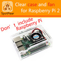 Raspberry pi 2 model B case with free fan. support B+/2B.Good cool case