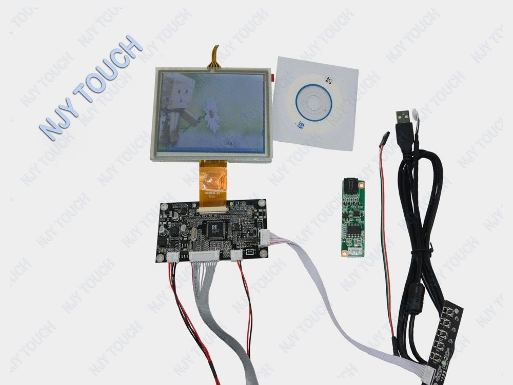 5 inch LCD Screen ZJ050NA-08C 640x480 TFT +VGA AV Controller Board With Touch Panel USB kit 6 2 tft hsd062idw1 800x480 lcd screen with touch panel usb kit plus vga av lcd controller board kit