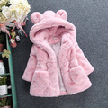 Winter Baby Girls Faux Fur Fleece Coat Party Pageant Thicken Warm Jacket Xmas Snowsuit 1-6Y Baby Outerwear Children Clothes