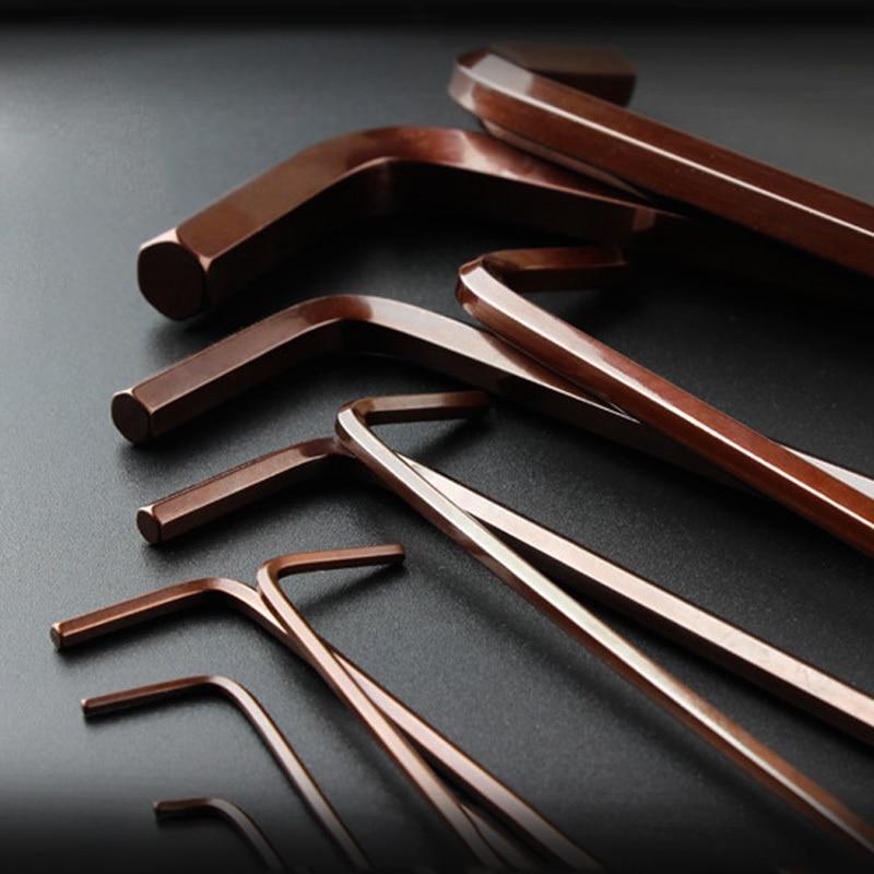 """LIJIAN 9PCS S2 """"Alen"""" raktas Metrinis / britiško tipo - Rankiniai įrankiai - Nuotrauka 3"""