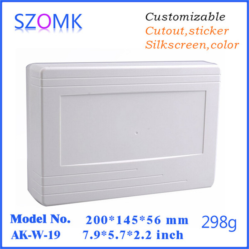 szomk plastic electronics project instrument box (1 pcs) 200*145*56mm wall mounting outdoor electrical junction box|box box|box electric|box electronic - title=
