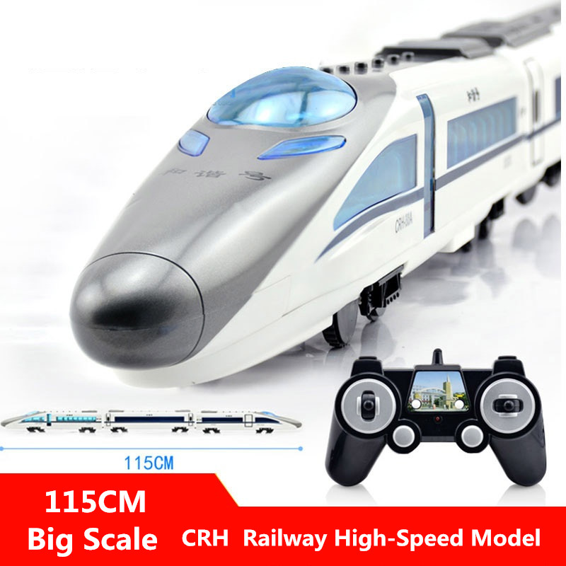 One Key Open Door High speed RC Train E636 2.4G Remote Control Car Voice Broadcast kids Best Gift Toys Educational Toy Paly Game