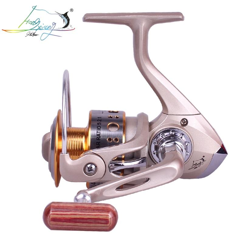 HongXiang Spinning Fishing Reel 12BB + 1 Bearing Balls 1000-6000Series Metal Coil Boat Rock Wheel