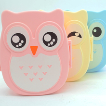 4 Colors Kawaii Candy Color Owl Lunch Microwave Oven Bento Container Case set Dinnerware Childrens Birthday Gift