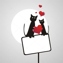 Two Cats In Love Under The Moonlight Metal Cutting Dies for Scrapbooking New 2019 Die Cuts Card Making Craft