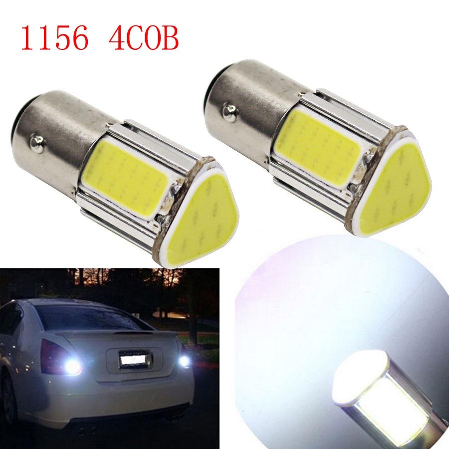 Super Bright P21W 4 Sides COB 1156 BA15S DC12V High Power Car Turn Signal Lights Reverse Lamps Backup Tail Lighting